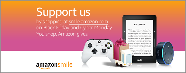 Amazon Smile banner non-profit donations