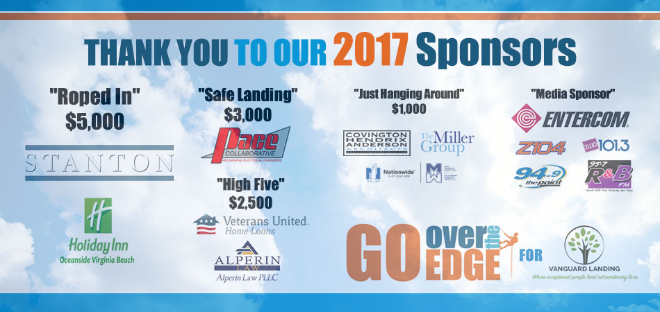 2017 Sponsors For Over The Edge