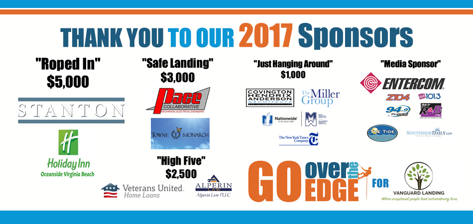 Over The Edge 2017 Sponsors